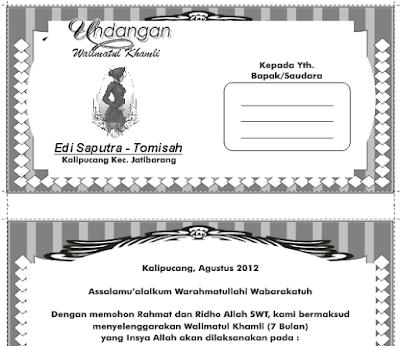 Download Gratis Contoh Undangan Walimatul Khamli 7 Bulan Kehamilan CDR