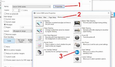 Cara setting printer agar tidak berisik