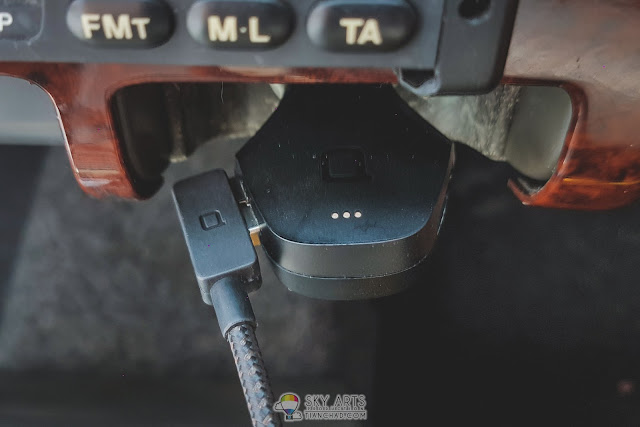 ZUS Car Charger with well-designed ZUS Cable plugged in