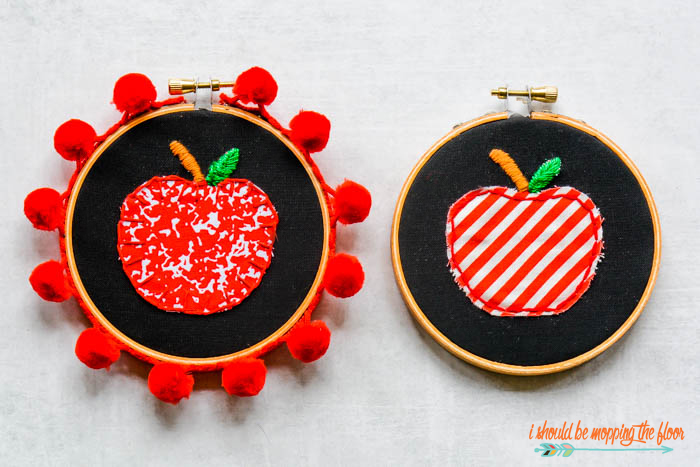 Blanket Stitch Apple Applique