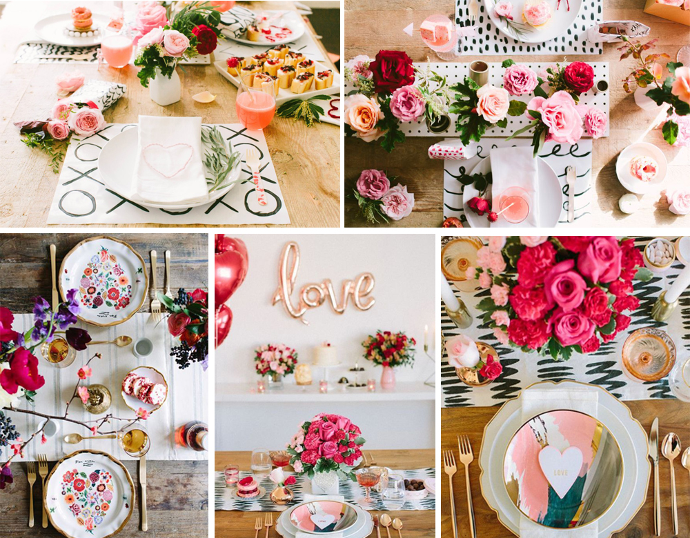 como decorar mesa de san valentin colorida con flores a todo color para 14 de febrero facil y low cost
