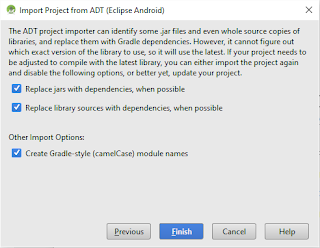 Android Studio - Import Options
