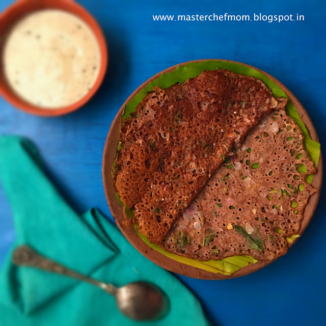 Ragi Dosai | Ragi Dosa| Finger Millet Crepes from South India