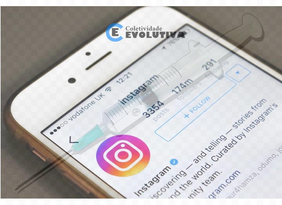 Instagram juntou se a equipe de censuradores, para censurar quem questiona sobre a segurança das vacinas