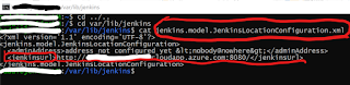 Changin jenkins.model.JenkinsLocationConfiguration.xml