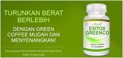 Green Coffee Exitox Greenco Penurun Berat Badan Cepat