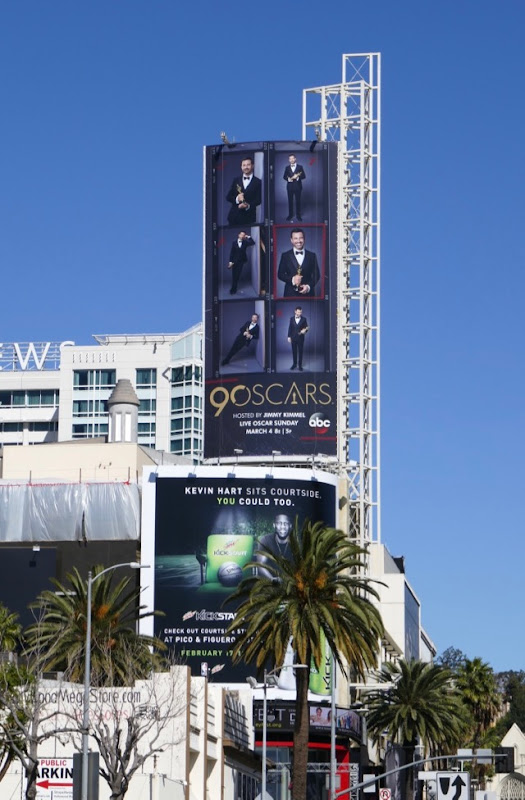 90th Oscars billboard