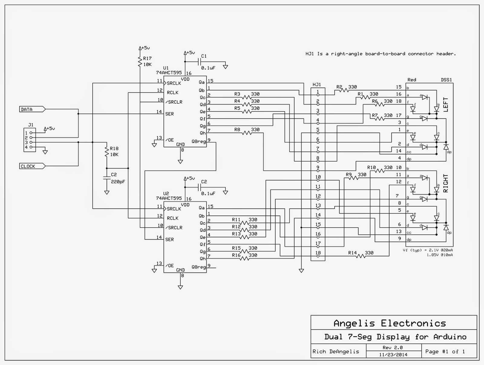 Numeric Display For Breadboard Arduino Angelis Electronics Rgb 3 Watt Led Color Mixer Controller Circuit Making Use Of Ic Lm317 Shift Output That Needs Only Two Outputs And A Few Samples Register Chip I Wanted To Test Out Here Is The Schematic My Latest Project