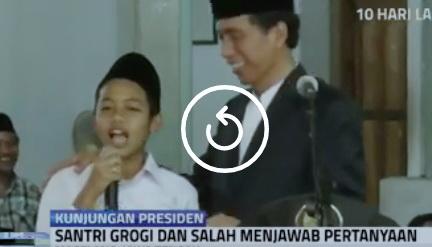 VIDEO: Santri API Tegalrejo Sebut Ahok, Megawati dan Prabowo adalah Menteri, Jokowi Ketawa Terkekeh-kekeh