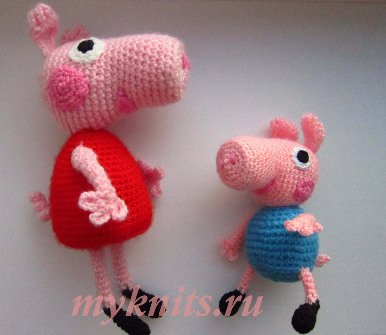 Myknitsru свинка пеппа и ее братик джордж вязание крючком