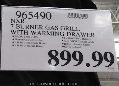 Deal for the NXR Premium 7 Burner Stainless Steel Propane Gas Grill at Costco