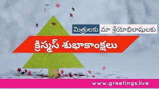 Christmas in Telugu క్రిస్మస్ శుభాకాంక్షలు