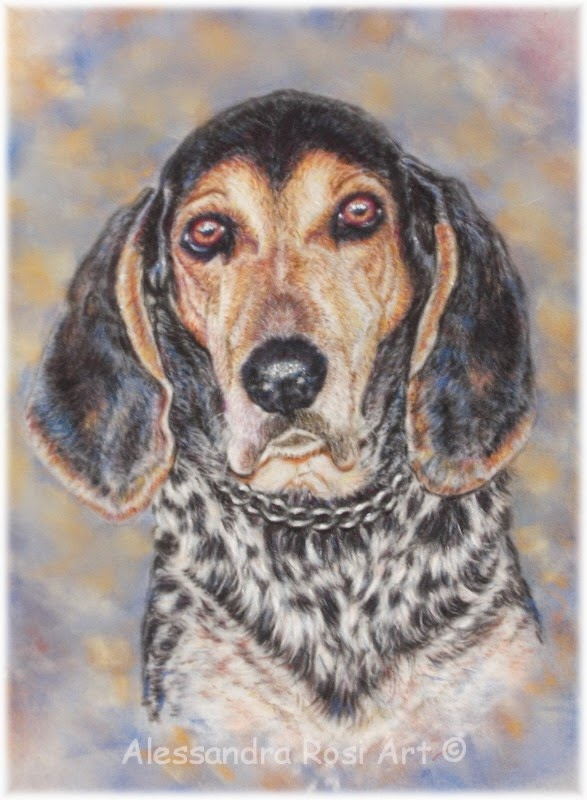 custom dog portrait painting, pastel pet portraits, paintings of dogs