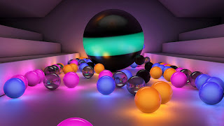 3D balls for desktop background