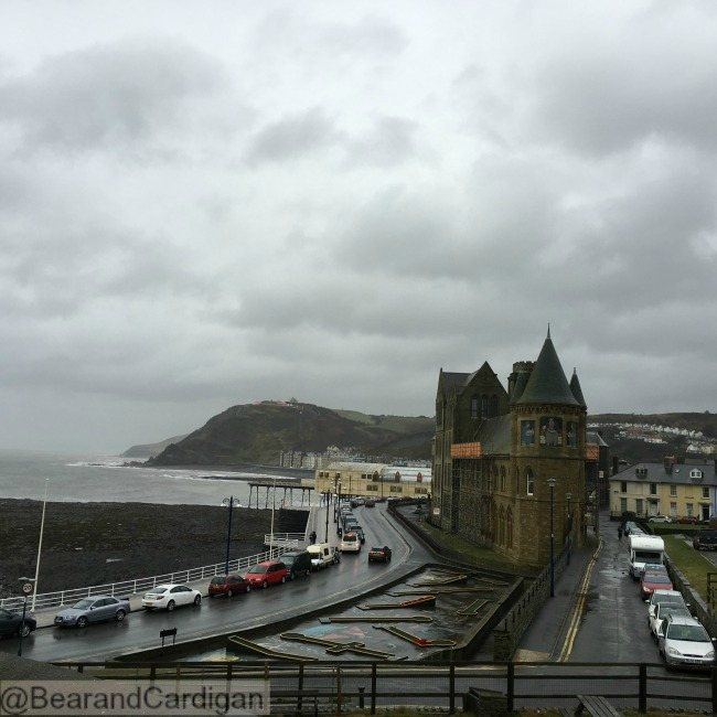 view of Aberystwyth from castle