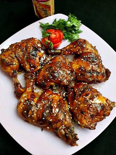 أوراك الدجاج بالعسل و الصويا صوص