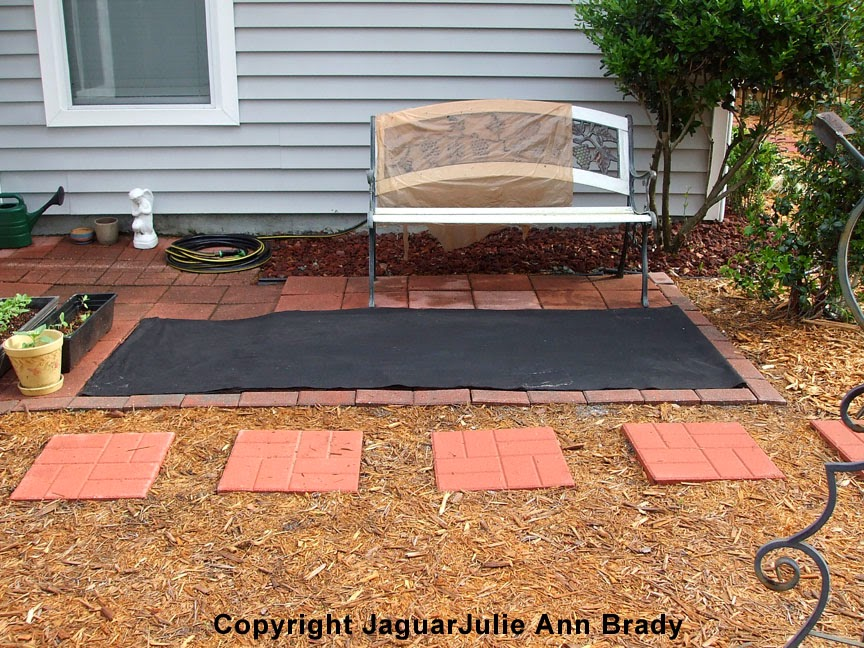 Weed Barrier Cloth and Lowe's Liner Drying ~ JaguarJulie
