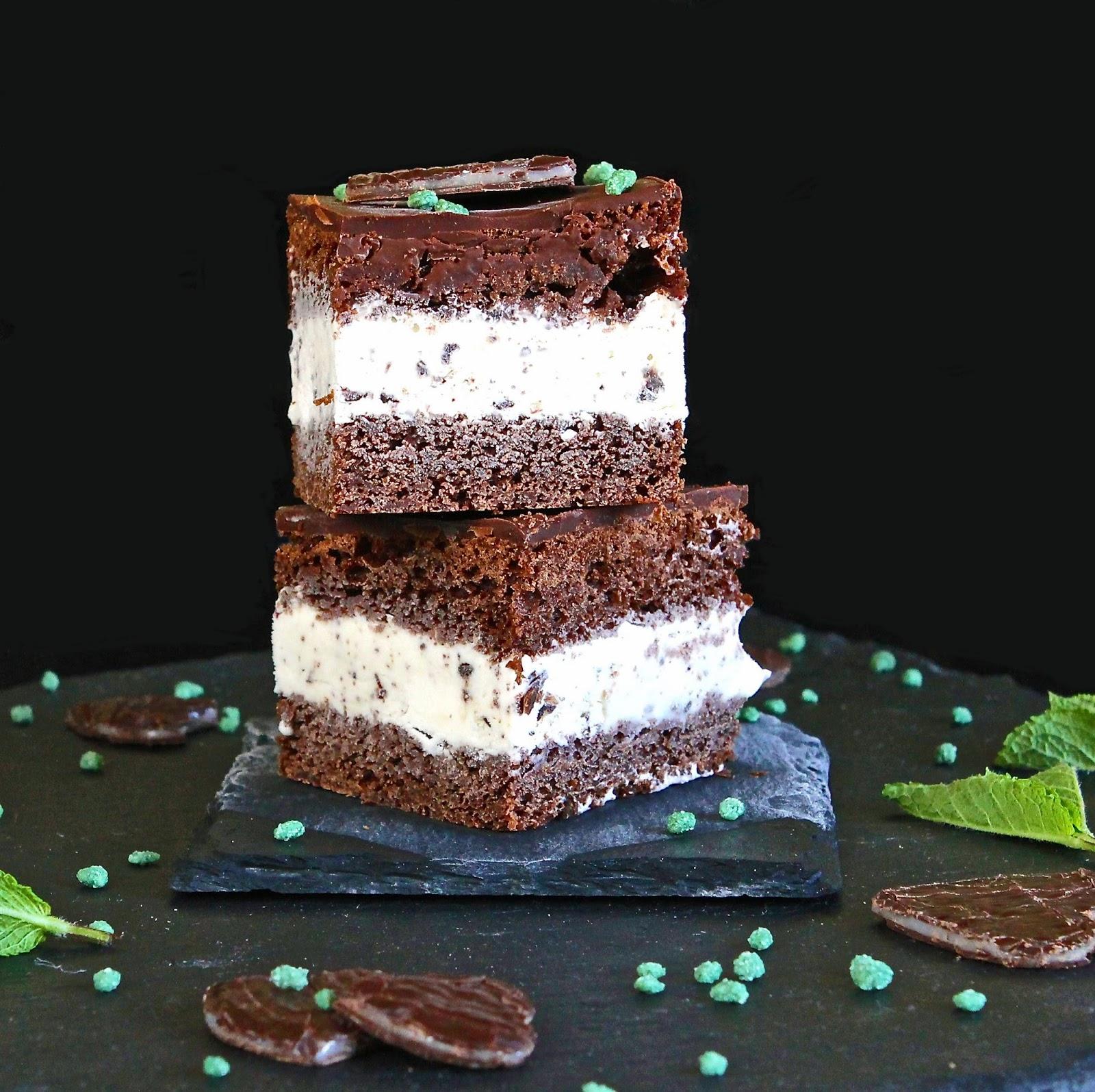 Sponge Cake Ice Cream Dessert