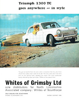 Triumph 1300TC advert by Whites of Grimsby Ltd