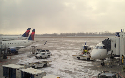 Sioux Falls airport in the snow