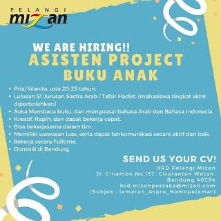 Lowongan Kerja Mizan Bandung 2020 Karir PT Mizan Pustaka