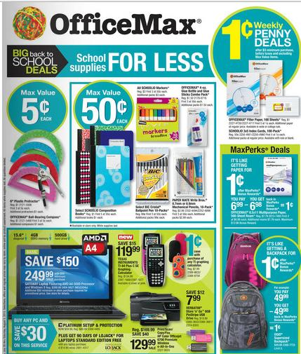 Office Depot and OfficeMax have a variety of school uniforms, teacher resources, the latest technology for laptop computers and notebooks, and school supply lists .