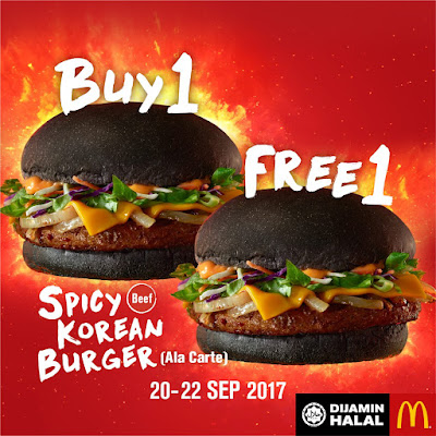 McDonald's Spicy Korean Burger Buy 1 Free 1 Promo