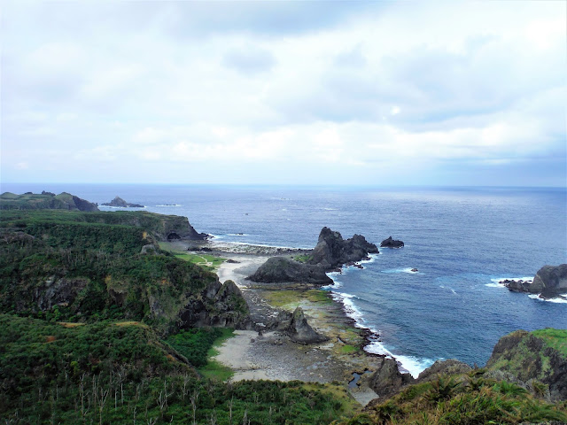 view ocean from little great wall green island taiwan