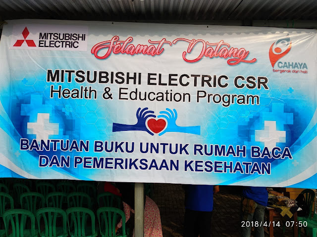 Baksos CSR PT. Mitsubishi Electric Automotive Gandeng Cahaya Foundation