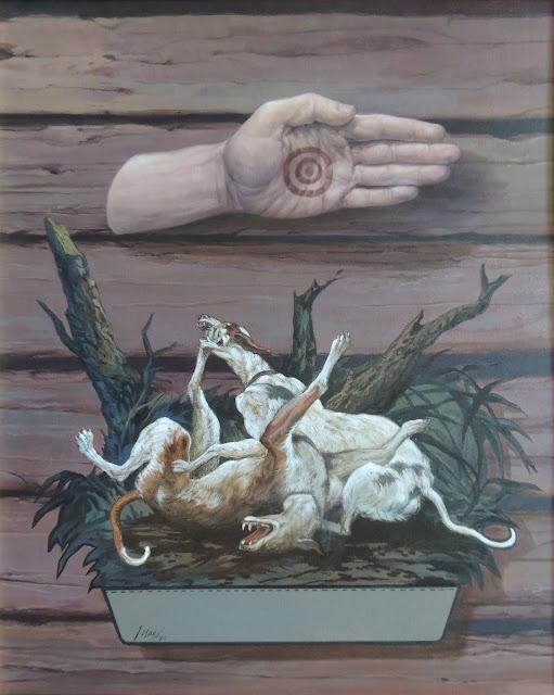 José Marí pintura surrealista arte perros