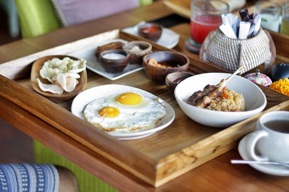 BREAKFAST AT BLUE KARMA RESORT UBUD