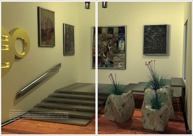藝術畫廊空間設計,梁又文老師設計作品集,空間設計篇2