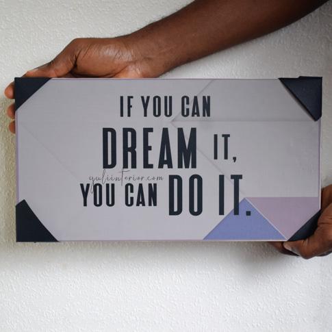 Walt Disney Dream It Quote Wood Décor available online in Port Harcourt, Nigeria