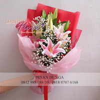 hand bouquet bunga lily, jual bunga jakarta, jual bunga lily, florist jakarta,