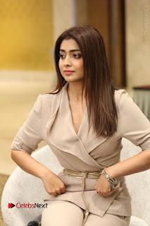 Actress Shriya Saran Stills in Stylish Dress at Gautamiputra Satakarni Team Press Meet  0063.JPG