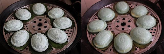 蓝花红龟糕