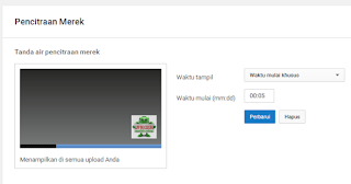 upload tanda air di youtube sudah selesai