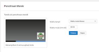 upload tanda air di youtube sudah selesai