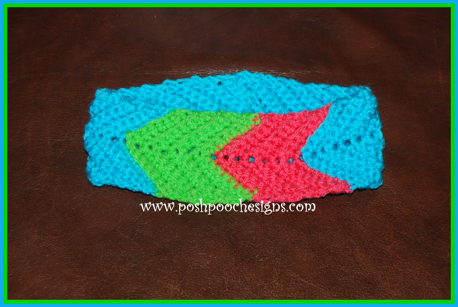 Free Crochet Chevron Ear Warmer Pattern : Posh Pooch Designs Dog Clothes: Chevron Headband Crochet ...