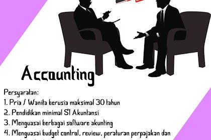 Lowongan Kerja Accounting CV. Wahyu Adi Lestari