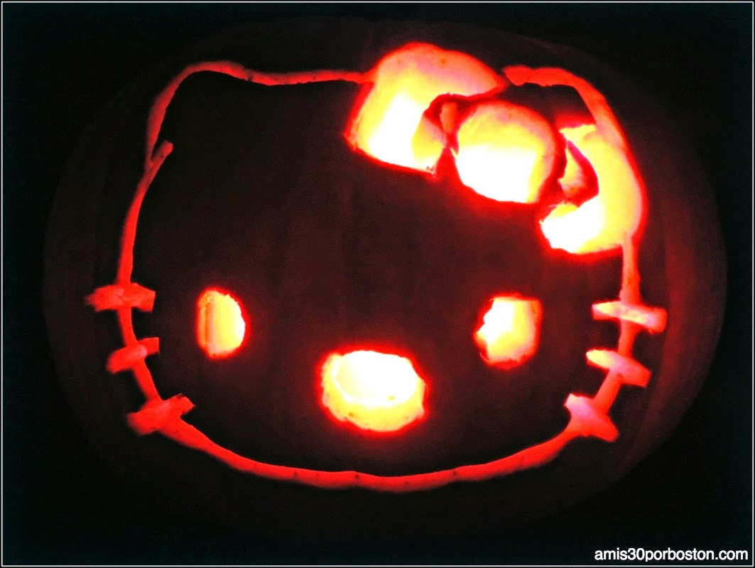 Calabazas Decoradas para Halloween: Hello Kitty
