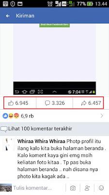 PP Facebook hilang