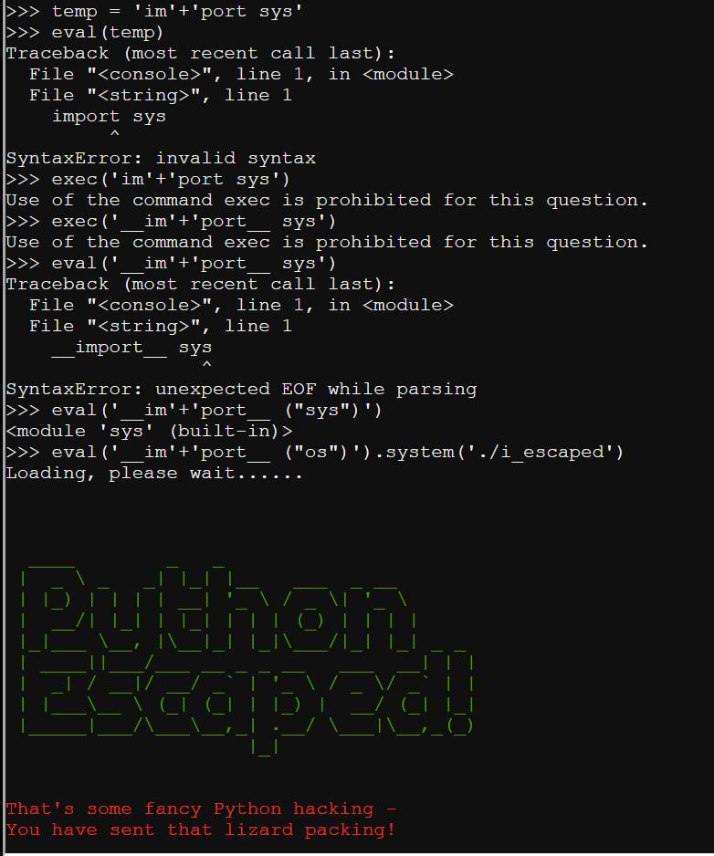 The Life of a Penetration Tester: KringleCon   Python Escape