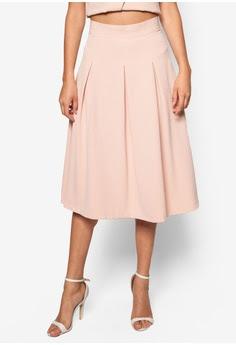 Nude Crepe Midi Skirt, S$89.90 from Miss Selfridge