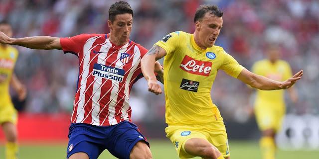 SBOBETASIA - Kalahkan Napoli, Atletico Madrid Melaju ke Final Audi Cup