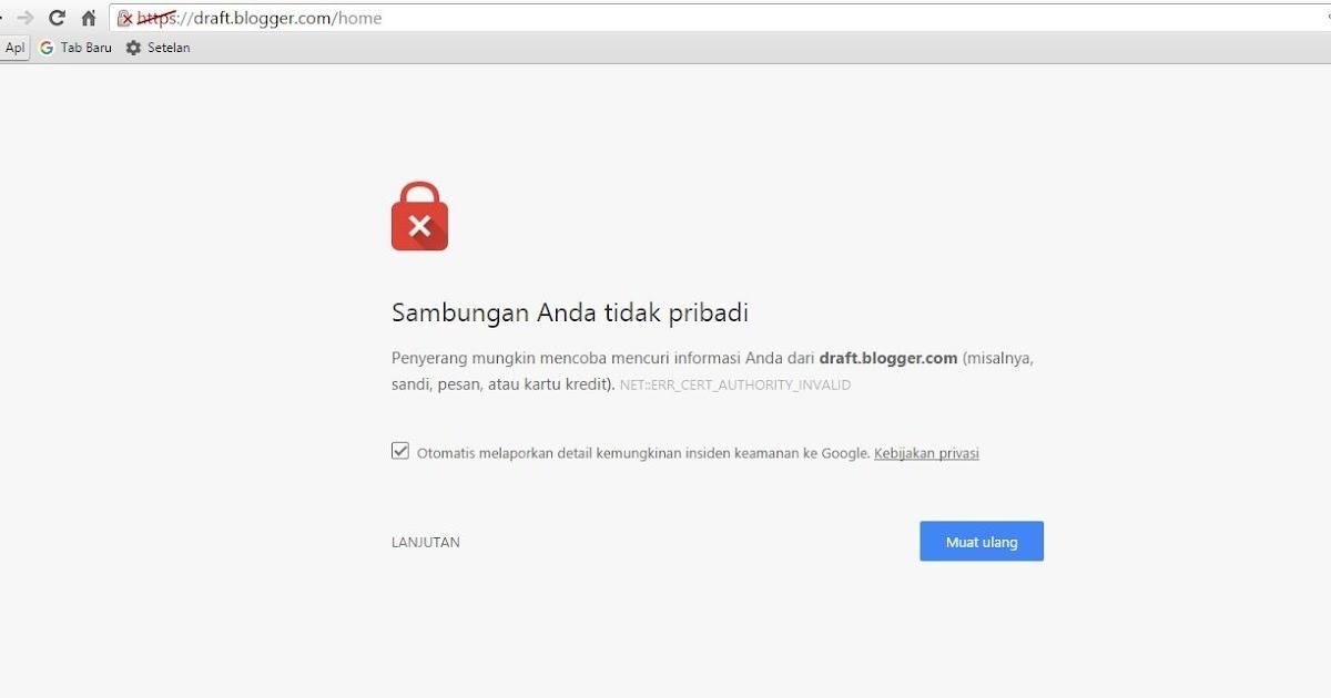 Server proxy menolak sambungan google chrome