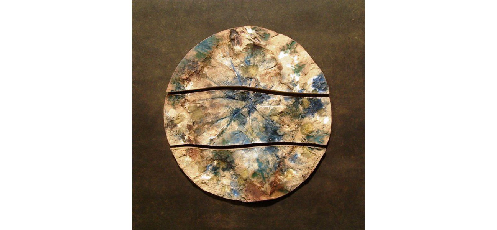 "This square home decor wall art is a Ceramic Wall Art Tile with a Leaf by an American Artist Ana Caravias,  12"" x 12"""