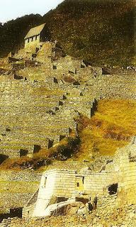 Cabana do Guardião,  Vista do Templo do Sol - Machu Picchu [Peru]
