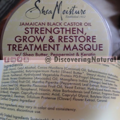 SheaMoisture Jamaican Black Castor Oil Treatment Masque