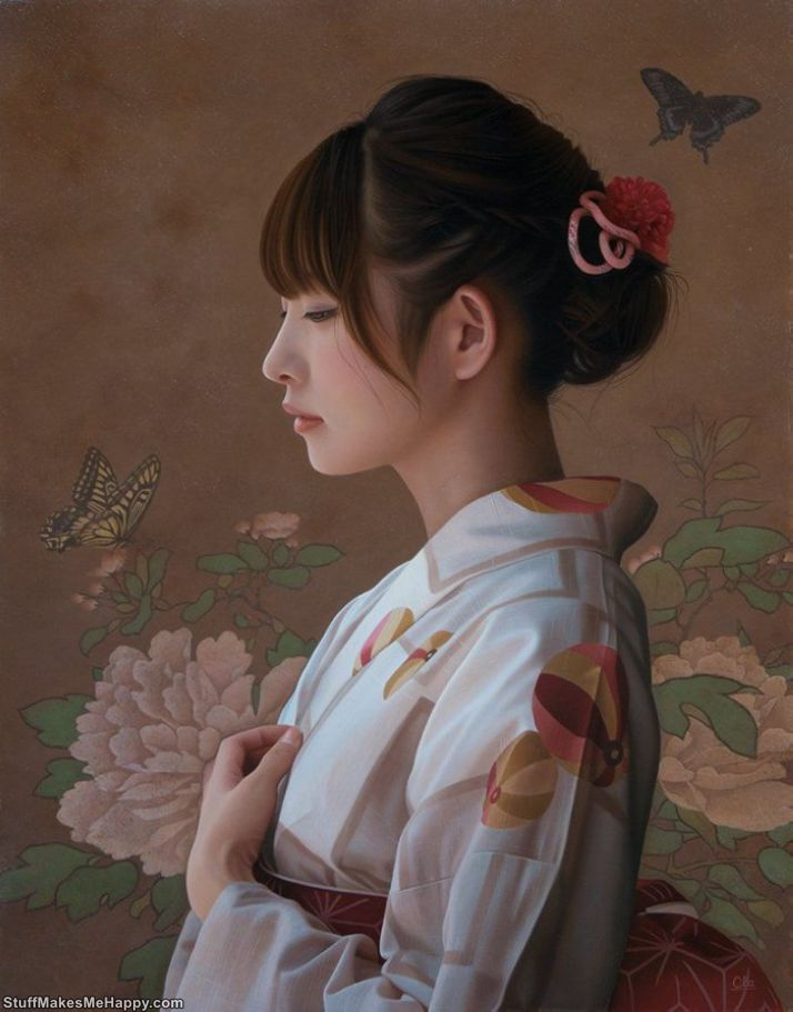 Realistic Portraits of Beautiful Girls by Yasutomo Oki